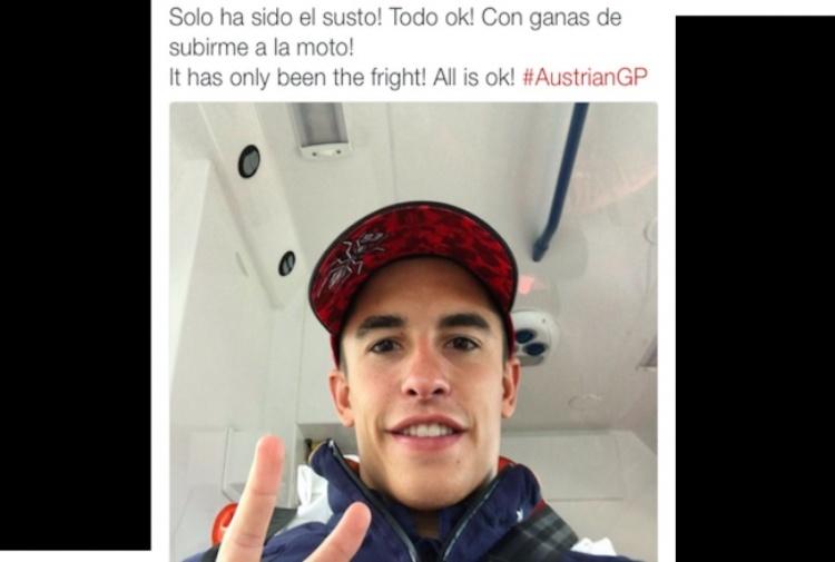 MotoGp, brutta caduta per Marquez durante le prove libere