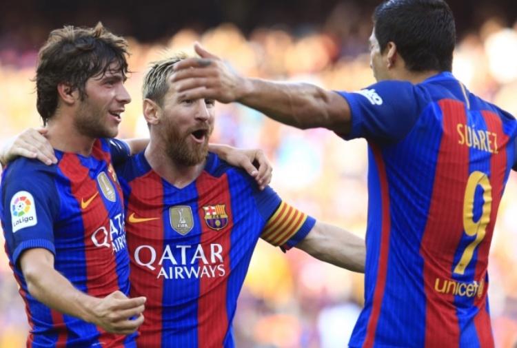 Il Barça debutta con 6 gol. Messi più Suarez: ciao Betis