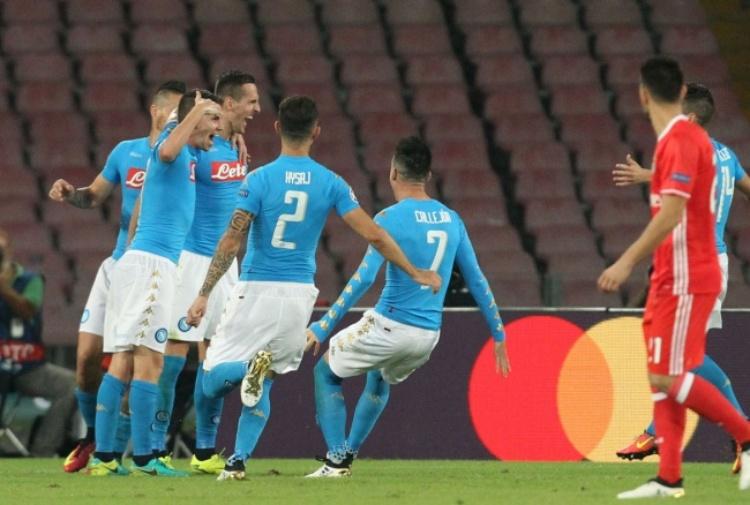 Champions League: il Napoli fa il bis con il Benfica