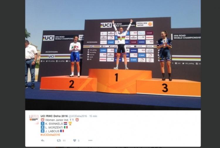 Mondiali di Ciclismo, Italia d'argento con Lisa Morzenti