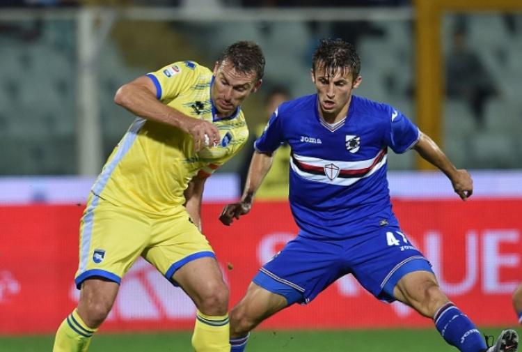 Campagnaro fa gol e autorete: Pescara-Sampdoria 1-1