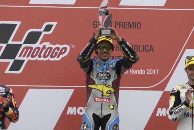 Moto2: Pasini è super, doma Luthi e Marquez, Morbidelli 4°