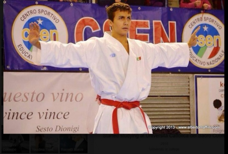 Milano. Morto in un incidente Andrea Nekoofar promessa del karate