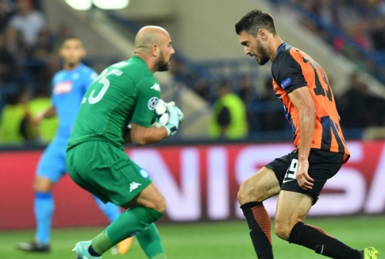 Allenamento per lo Shakhtar alla vigilia della sfida di Champions col Napoli