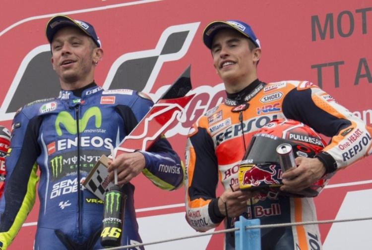 Gp Aragon, Vince Marquez, Rossi quinto, Dovizioso settimo