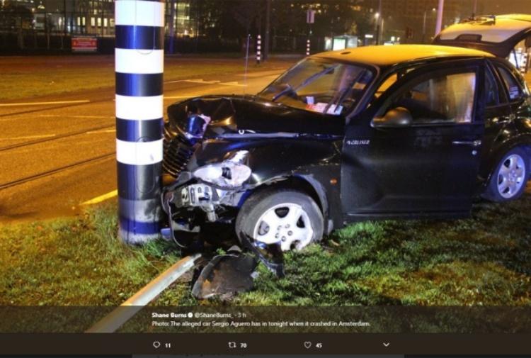 Aguero, brutto incidente in taxi: costole rotte, salta il Napoli