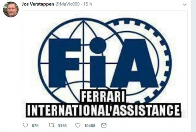 Jos Verstappen furioso dopo la penalizzazione al figlio: