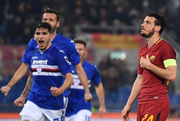Florenzi sbaglia il rigore in Roma-Samp, malore per il papà in tribuna