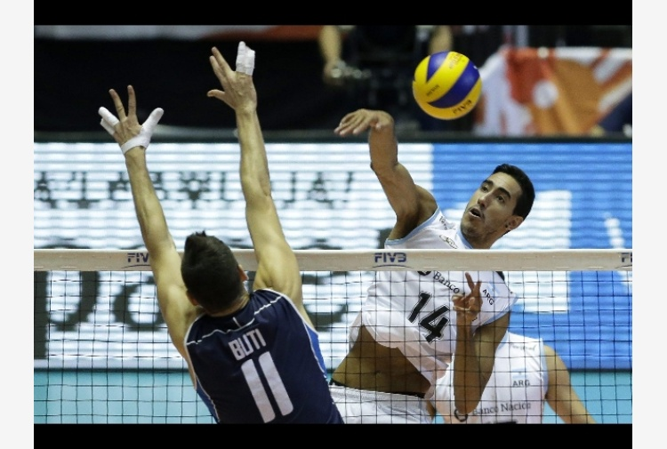 Volley: World Cup, Italia-Argentina 3-2
