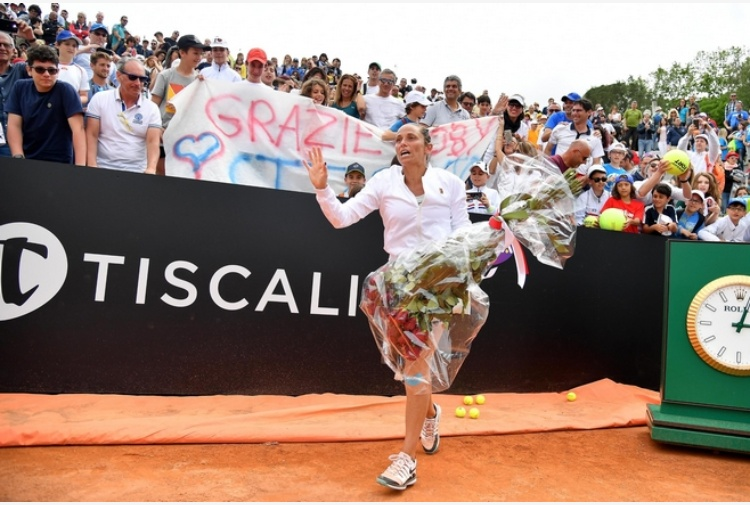 Tennis: Roberta Vinci chiude la sua carriera a Roma